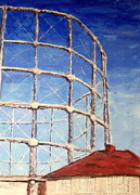 Iconic Paintings - Retired Old Gasometer by Errol  Jameson