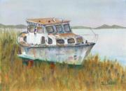 Small Boats Prints - Retired Print by Sandy Linden