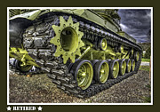 Olive Drab Prints - Retired Tank Print by David Kawchak
