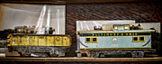 Rusted Cars Photos - Retired Trains by Heather Applegate