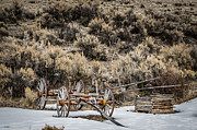 Bannack State Park Photos - Retired Wagon by Sue Smith