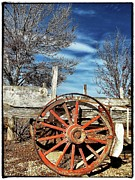 Old Wagon Prints - Retirement Blues - U S 395 California Print by Glenn McCarthy Art and Photography