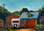 Garage Paintings - Retirement Plan by Athena Mantle