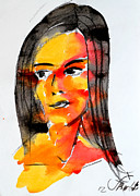 Portrait Painting Originals - Retratos 9 by Jorge Berlato