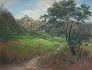 Ahu Pastels Originals - Retreat Among the Koolaus by Candace D Fenander