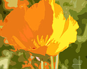 Most Viewed Posters - Retro Abstract Poppies 2 Poster by Author and Photographer Laura Wrede