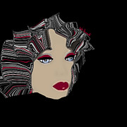 Hairstyle Digital Art - Retro Bad Hair Day by Kate Farrant