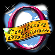 Oblivious Prints - Retro Captain Oblivious Print by Wendy Boomhower
