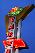 Retro Car Wash Sign Print by Norman Pogson