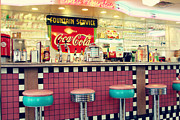 Soda Fountain Framed Prints - Retro Diner Framed Print by Sylvia Cook