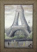 Irina Cumberland - Retro Eiffel tower framed