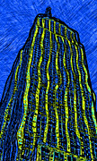 Empire State Building Digital Art - Retro Empire State Building by David G Paul
