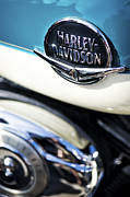 Badge Prints - Retro Harley Davidson Print by Tim Gainey