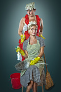 Cleanup Prints - Retro Housewives Part III Print by Erik Brede