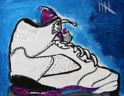 Jordans Framed Prints - Retro Jays Framed Print by Kim Bell Jr