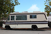 Trailers Posters - Retro Recreational Vehicle RV 5D25258 Poster by Wingsdomain Art and Photography