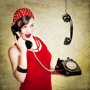 Telephone Posters - Retro talk Poster by Erik Brede