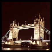 Tower Of London Photos - Retro Tower Bridge by Heidi Hermes