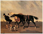 Horse Race Paintings - Return from the Race by Alfred De Dreux