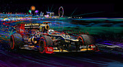 Formula One Art - Return Of The Fin by Alan Greene