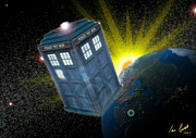 Tardis Digital Art Prints - Return of the Time Lord. Print by Ian Garrett
