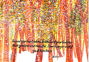 Snowy Trees Paintings - Return to the Lord by Catherine Saldana