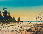 Landscape Greeting Card Painting Originals - Return to the Shore by James Williamson