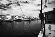 Charters Photos - Returning Charter Fishing Boat Charter Boat Row City Marina Key West Florida Usa by Joe Fox