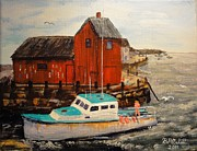 Rockport  Ma Paintings - Returning Home by Brent Arlitt