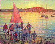 Jet Painting Prints - Returning Home Late Summer Evening Print by Hugo Grenville