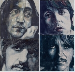 The Beatles George Harrison Paintings - Reunion by Paul Lovering