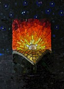 Night Glass Art - Reveal the Day by Julie Mazzoni