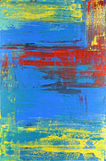 Pour Paintings - Revealing Blue by Fred Koenig