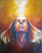 God Painting Originals - Revelation by Cindy Elsharouni