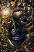 Red Eye Metal Prints - Revelation Metal Print by Hiroko Sakai