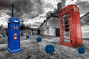 Telephone Art - Revenge of the killer phone box  by Rob Hawkins