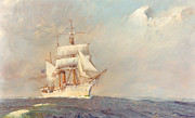 Sailing Ship Paintings - Revenue Cutter Bear by Jerry McElroy
