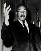 Martin Luther King Jr Photo Prints - Reverend King Print by Benjamin Yeager