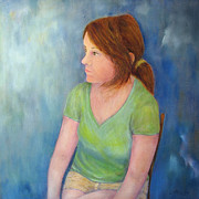 Reverie Paintings - Reverie Of A Young Woman by Loretta Luglio