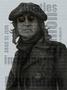 Beatles Mixed Media - Revolution by David Oakley