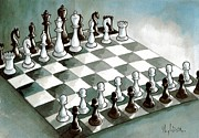 Chess Queen Drawings Prints - Revolution Print by Dimitrios Kordalis