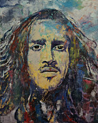 Hair Abstract Art Paintings - Revolution by Michael Creese