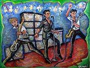 Green Day Paintings - Revolution Rock The Clash by Jason Gluskin