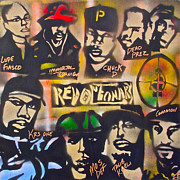 First Amendment Painting Framed Prints - Revolutionary HIP HOP Framed Print by Tony B Conscious