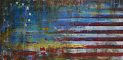 Abstract American Flag Paintings - Revolutionary by Sean Hagan