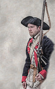 Revolutionary War American Soldier Two Print by Randy Steele