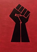 Liberation Painting Prints - Revolutionist fist  Print by Donald Beasley