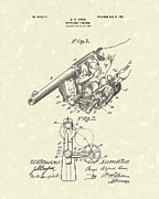 Pistol Drawings Posters - Revolver 1901 Patent Art Poster by Prior Art Design
