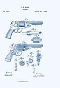 E Black Prints - Revolver Patent E.T Starr Print by Nomad Art And  Design