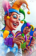 Jester Framed Prints - Rex Mardi Gras Parade XI paint Framed Print by Steve Harrington